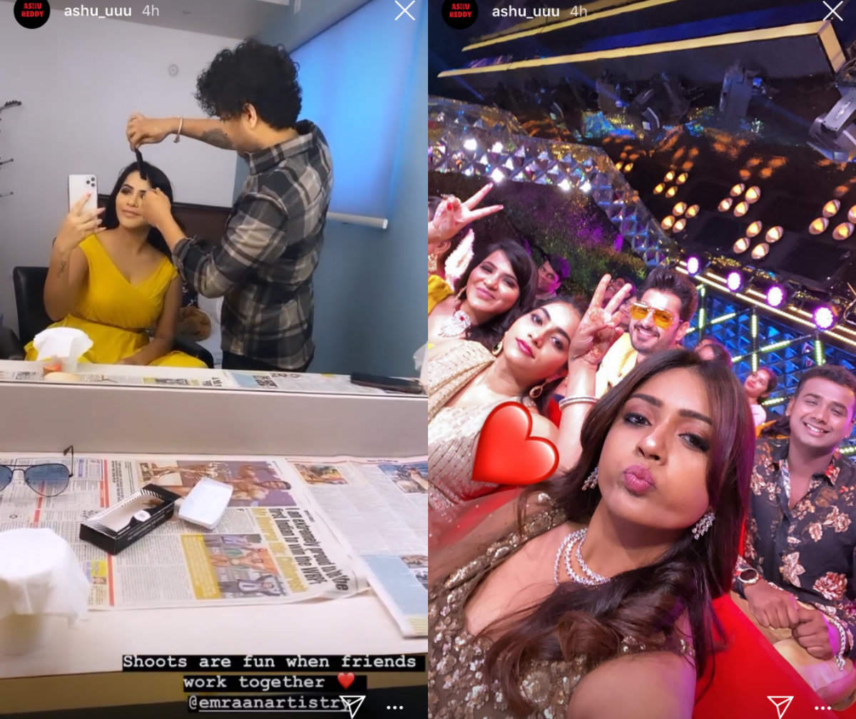 Ashu shares BTS pictures