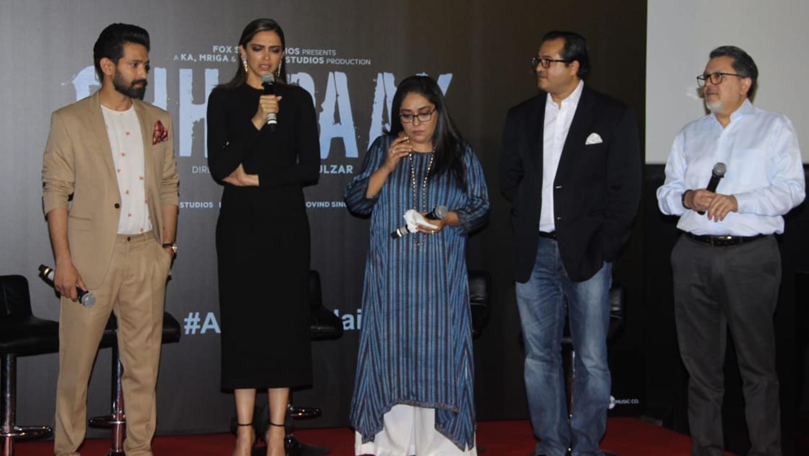 Trailer launch of Deepika Padukone starrer 'Chhapaak'