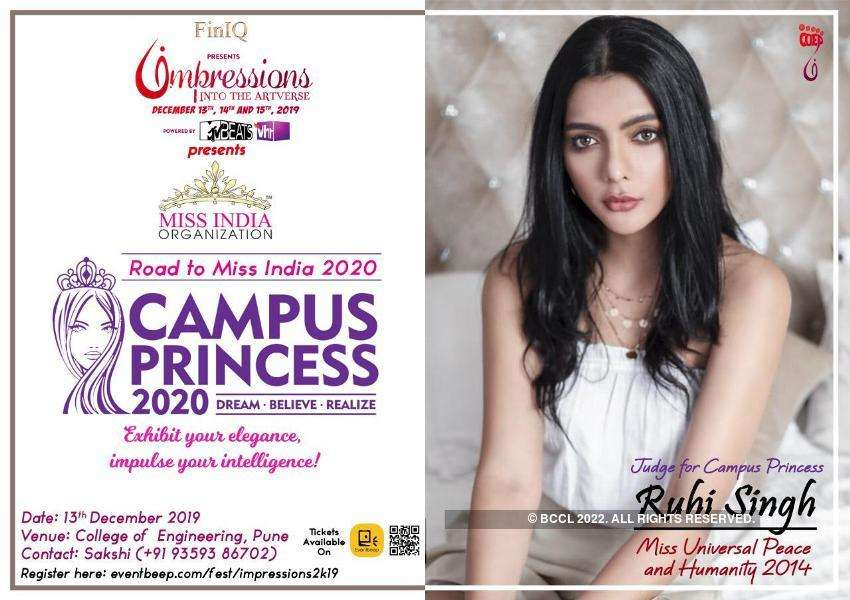 Campus Princess 2020 auditions to be held at Pune