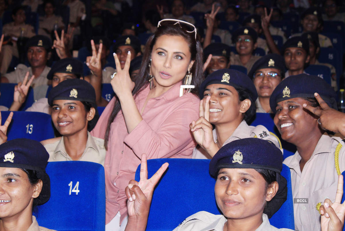 Rani Mukerji hosted a special screening of 'Mardaani 2' for Mumbai Police