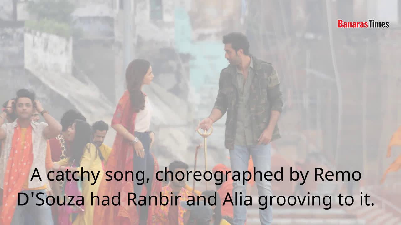 Ranbir Kapoor and Alia Bhatt shoot for a dance sequence in Varanasi