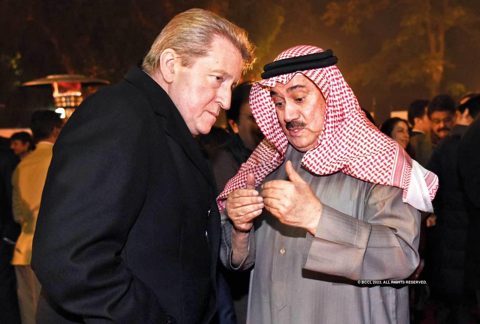 What's cooking? Nikolay Kudashev,  Ambassador, Russia, and Abdulrahman  Mohammed Al-Qaud, Ambassador, Bahrain