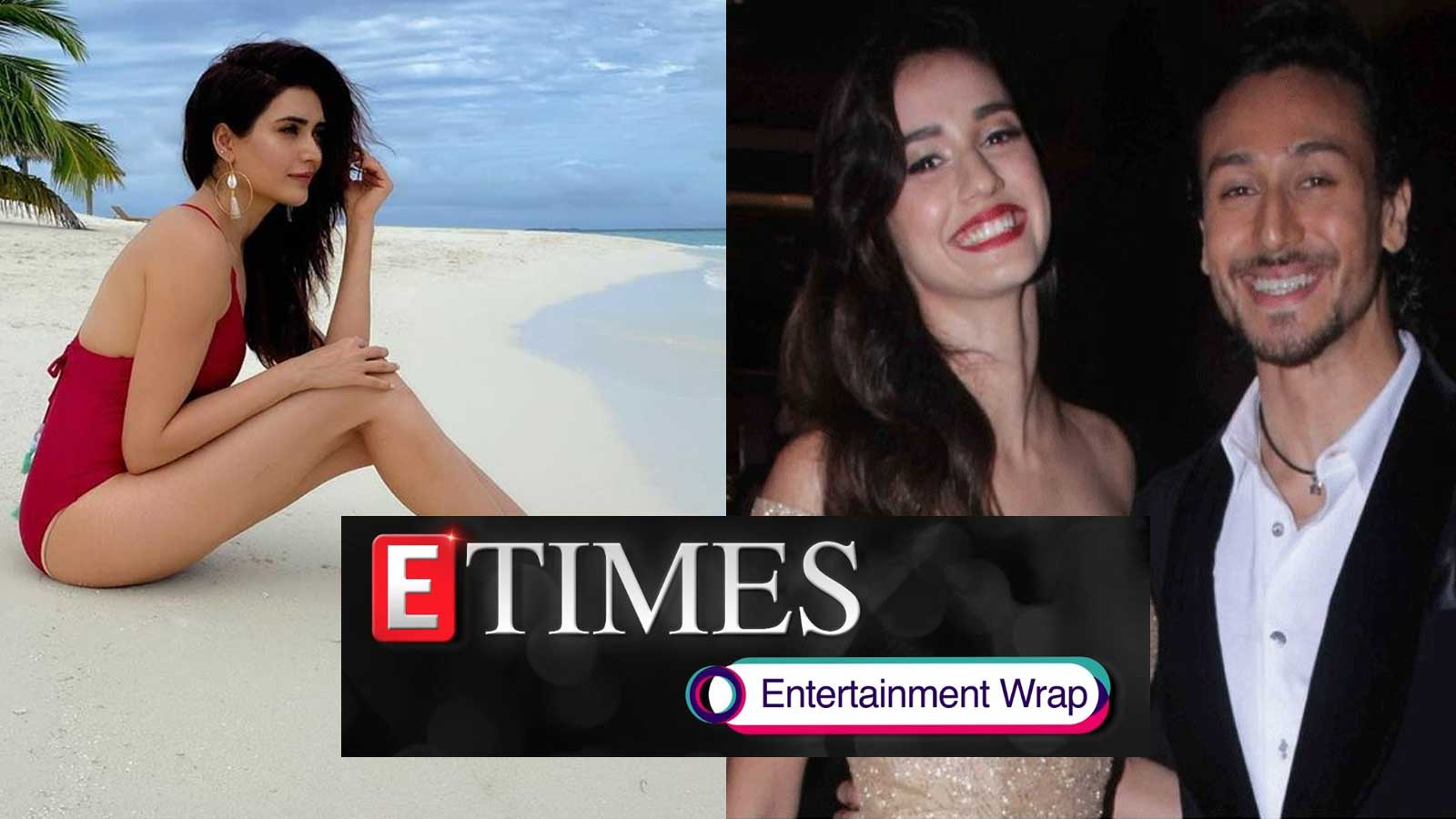 Karishma Tanna looks stunning in these pictures from Maldives; Tiger Shroff is all hearts as Disha Patani turns makeup artist for herself, and more…