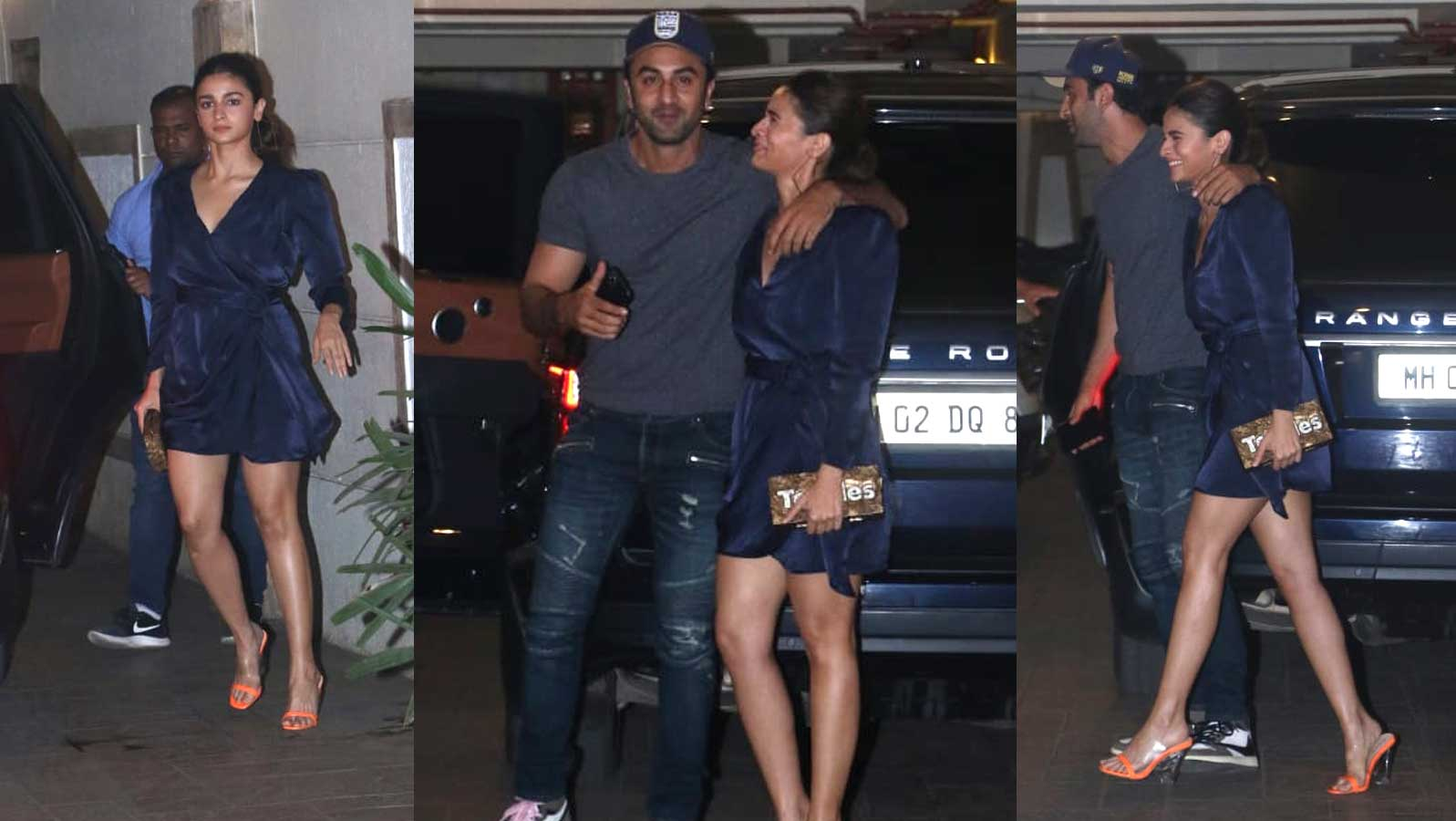Alia Bhatt and Ranbir Kapoor make for a dynamic couple as they get papped outside Kareena Kapoor Khan's residence
