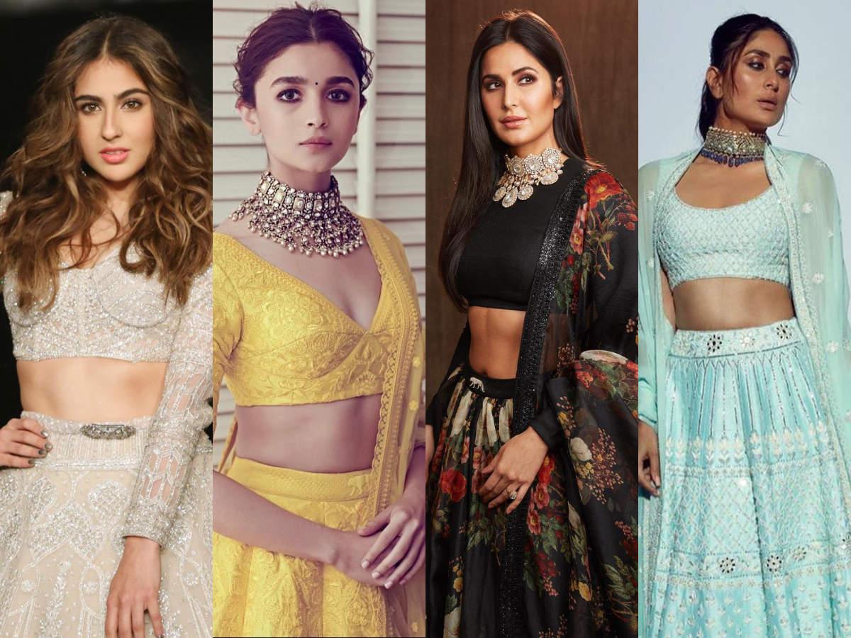 Sara Ali Khans White Lehenga To Kareena Kapoor Khans Powder Blue