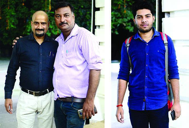 (L) Amit and Pankaj (R) Abhishek (BCCL/ Pankaj Singh)