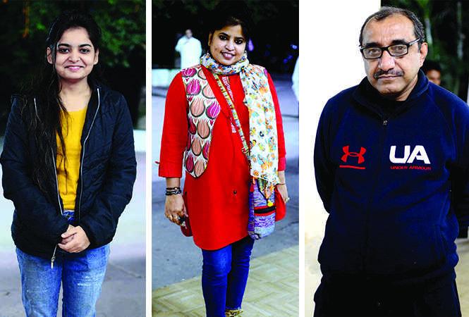 (L) Khushi (C) Poonam (R) Sujay Ghoshal (BCCL/ Pankaj Singh)