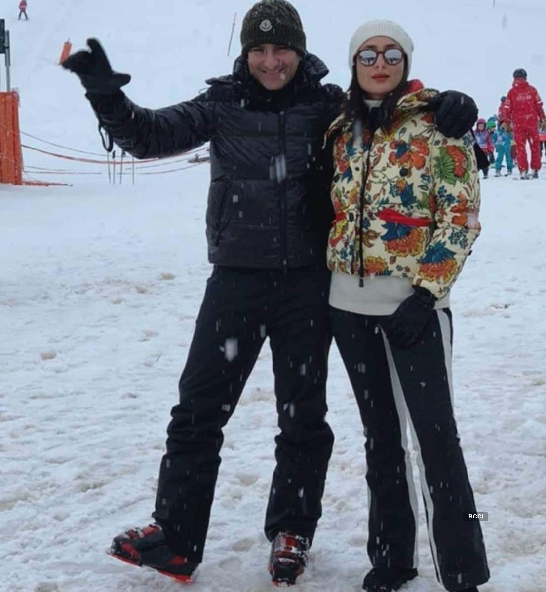 Kareena Kapoor and Saif Ali Khan's holiday pictures from Switzerland go viral