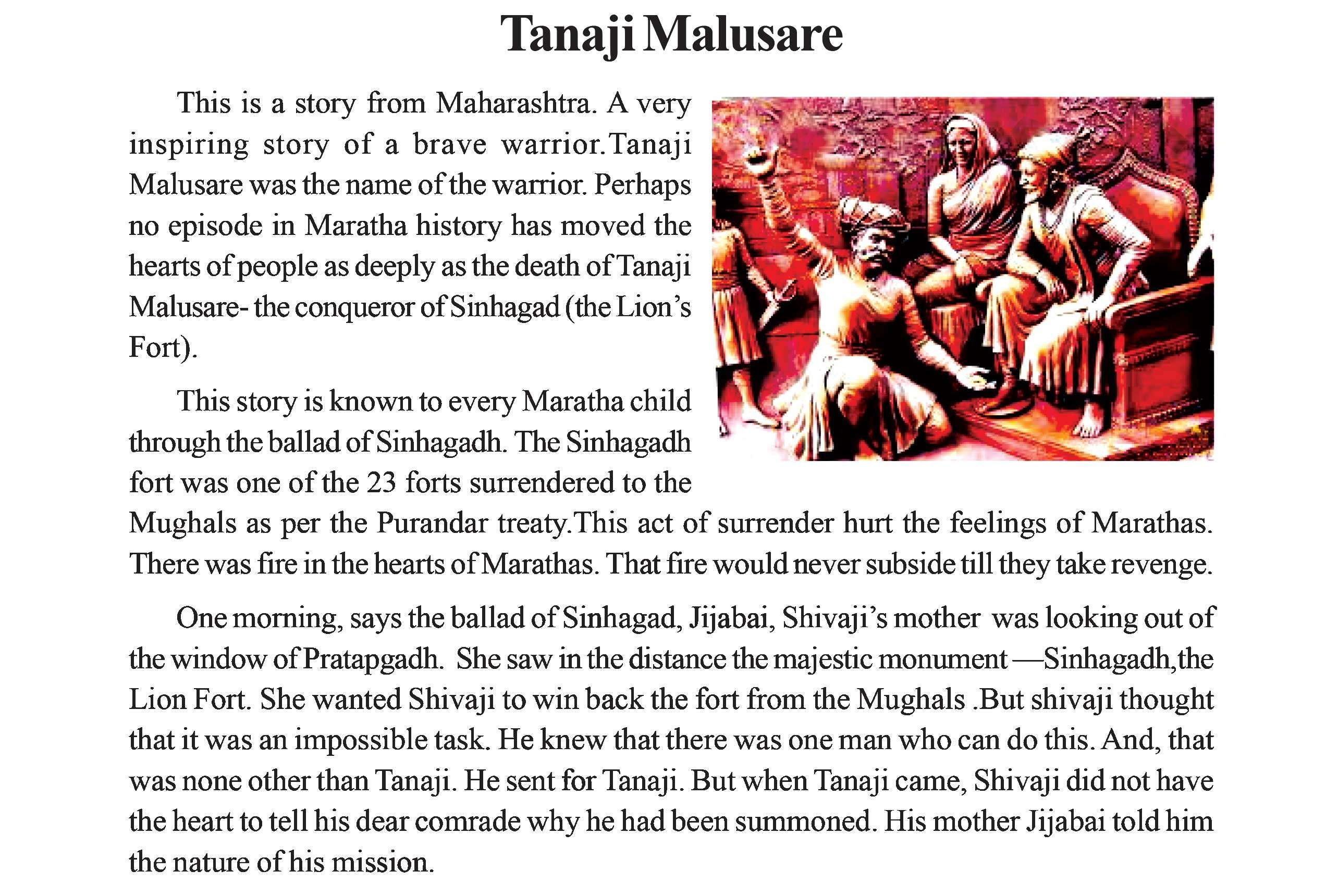 While textbooks in Maharashtra (like the one above) have chapters on Tanaji, books in north India hardly mention him