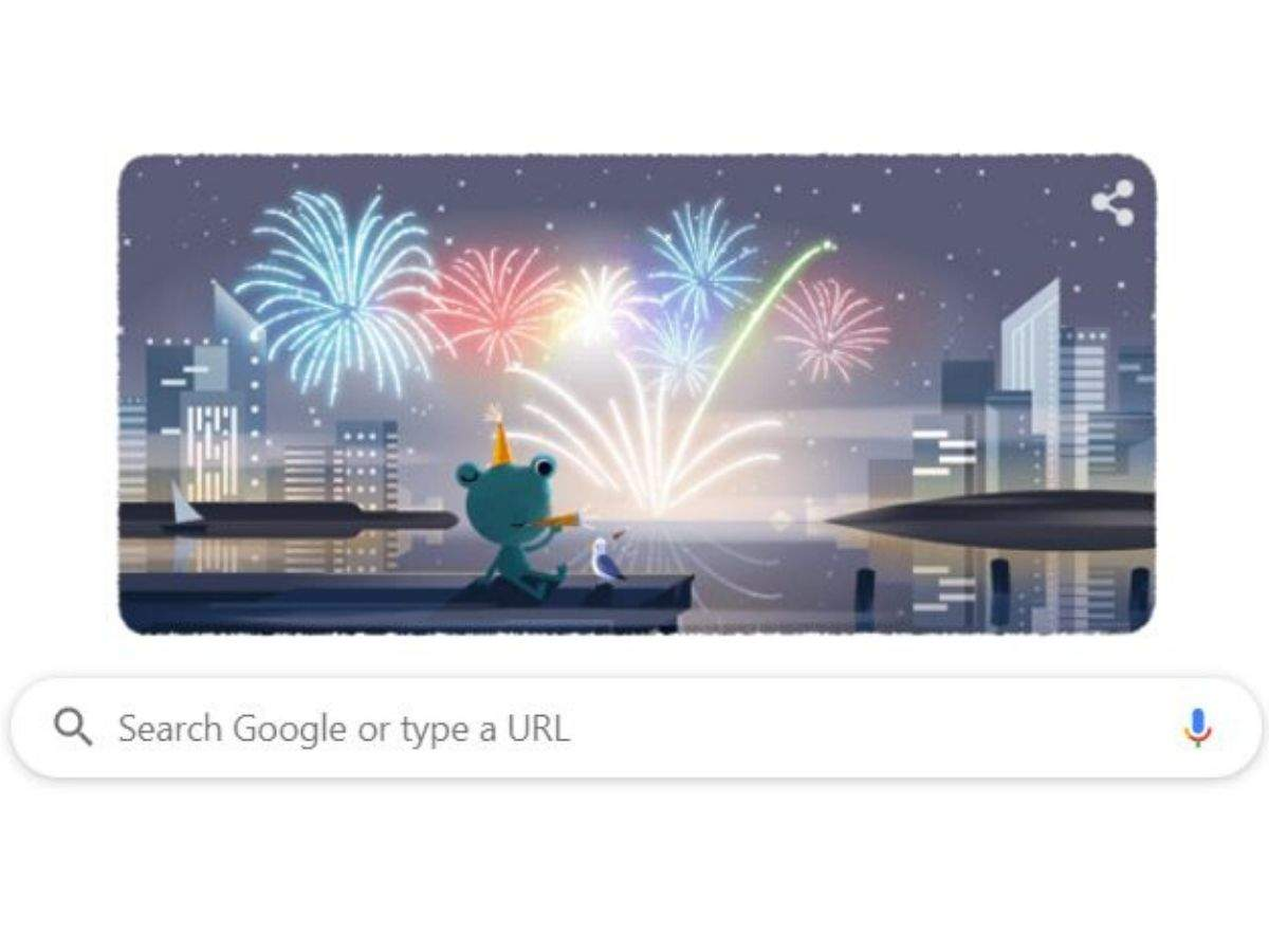 New Year's Eve Google Doodle - Happy New Year 2020