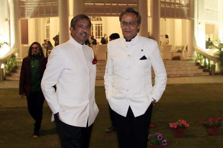 Vice Admiral PK Chatterjee and Anil Mukerji