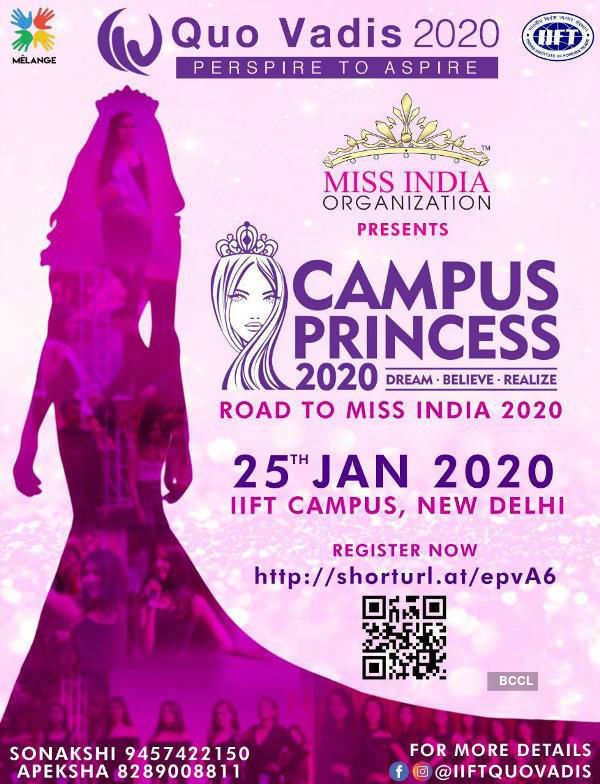 Campus Princess 2020 auditions at IIFT Campus
