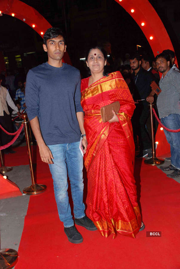 Take a peek into Avane Srimannarayana's star-studded premiere in Bengaluru