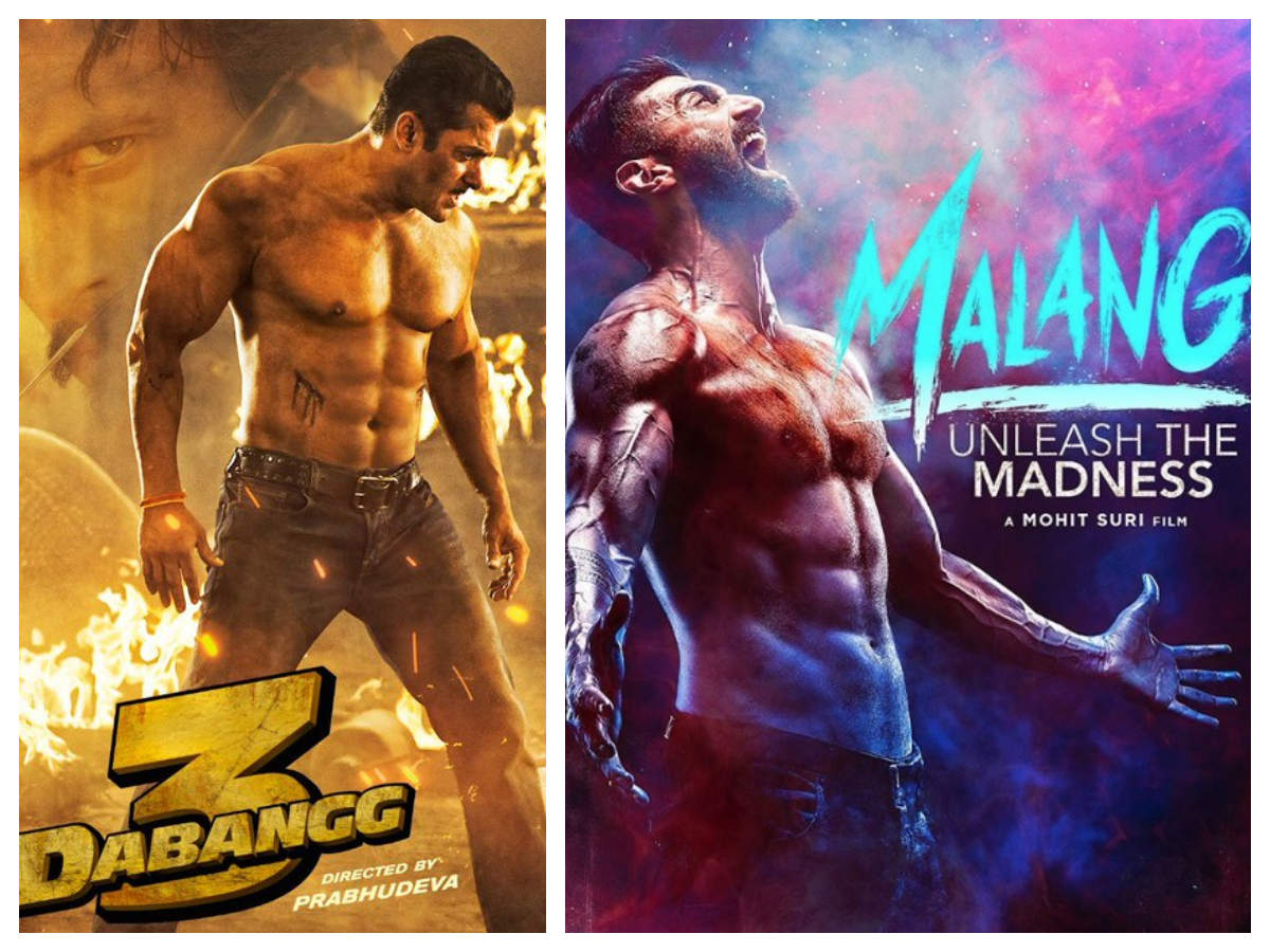 From Salman Khan In Dabangg 3 To Aditya Roy Kapur In Malang Bollywood Actors Who Went Shirtless For Their Film Posters The Times Of India