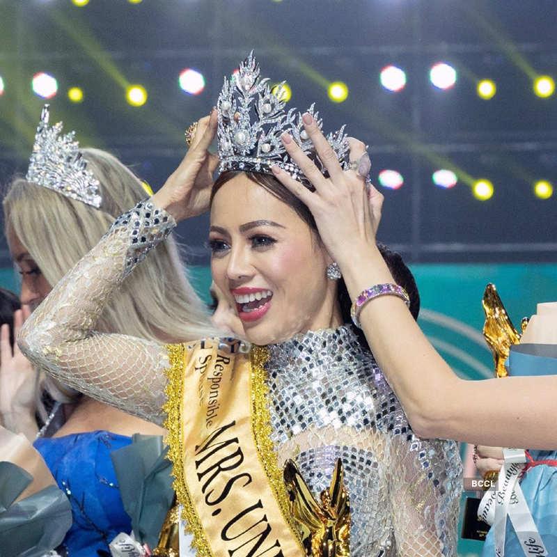 Myanmar's Honey Cho crowned Mrs. Universe 2019
