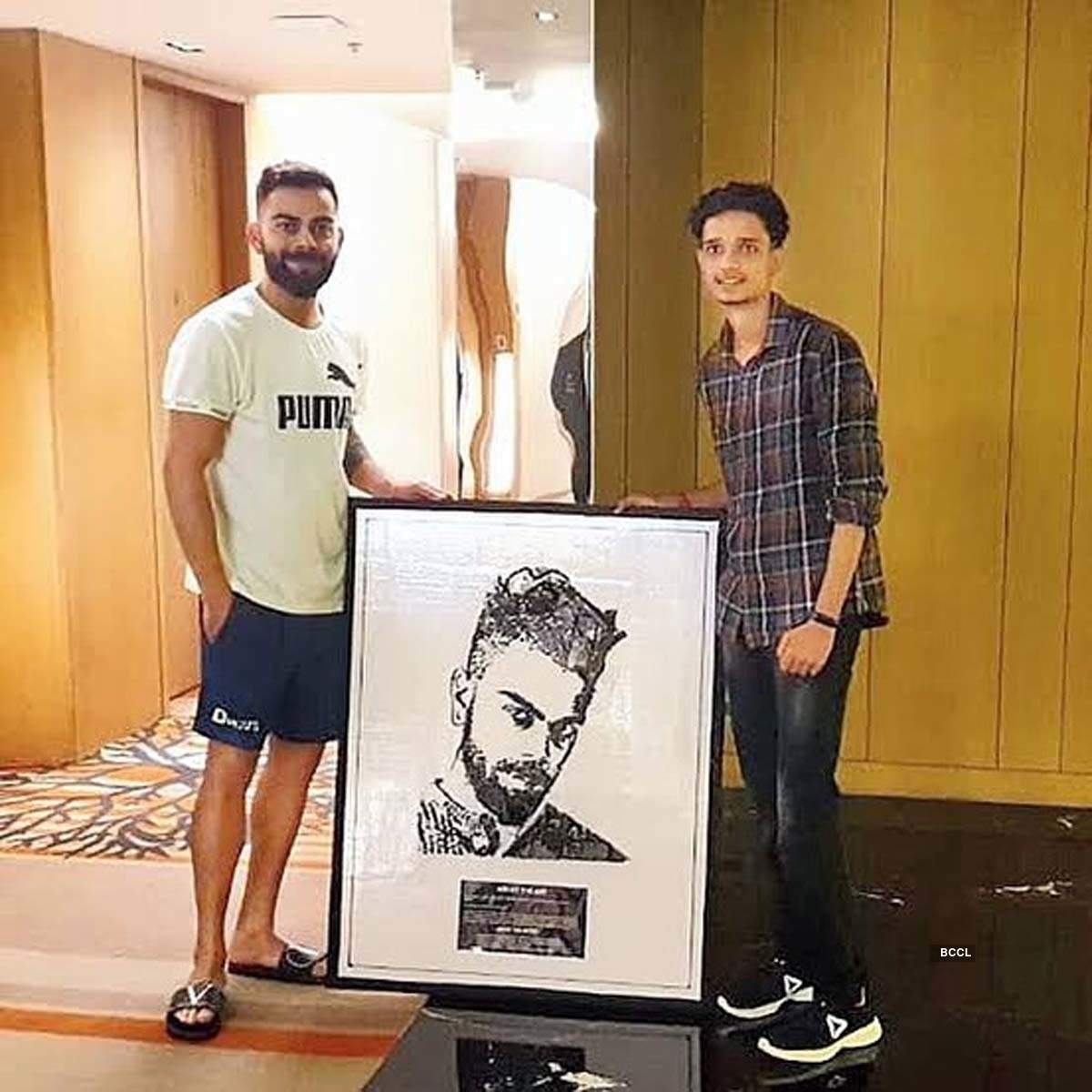 Virat Kohli's fan makes a mesmerising portrait of the cricketer with old mobile phones