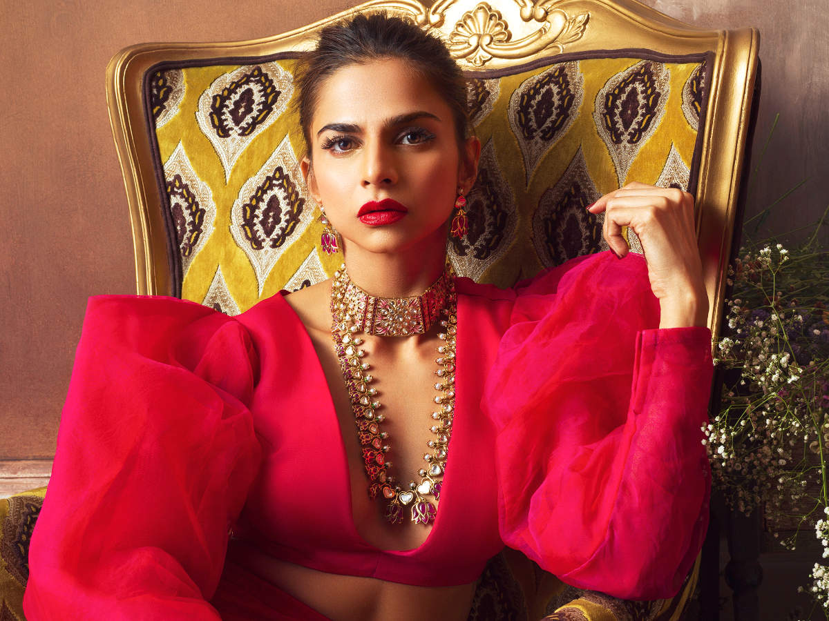 Stylist Shaleena Nathani models for Jaipur Gems