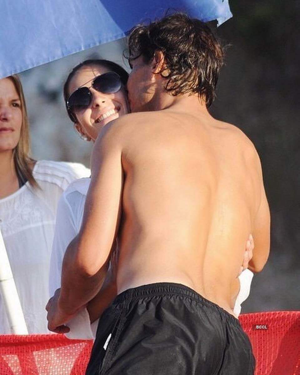 Romantic pictures of tennis star Rafael Nadal and wife Xisca Perello