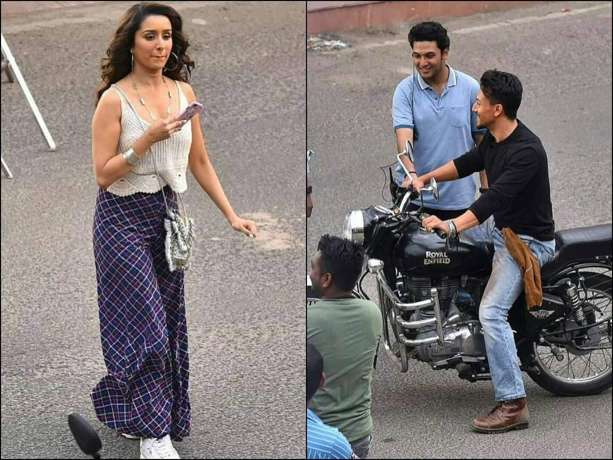 Shraddha Kapoor and Tiger Shroff spotted on the sets of 'Baaghi 3' in Jaipur
