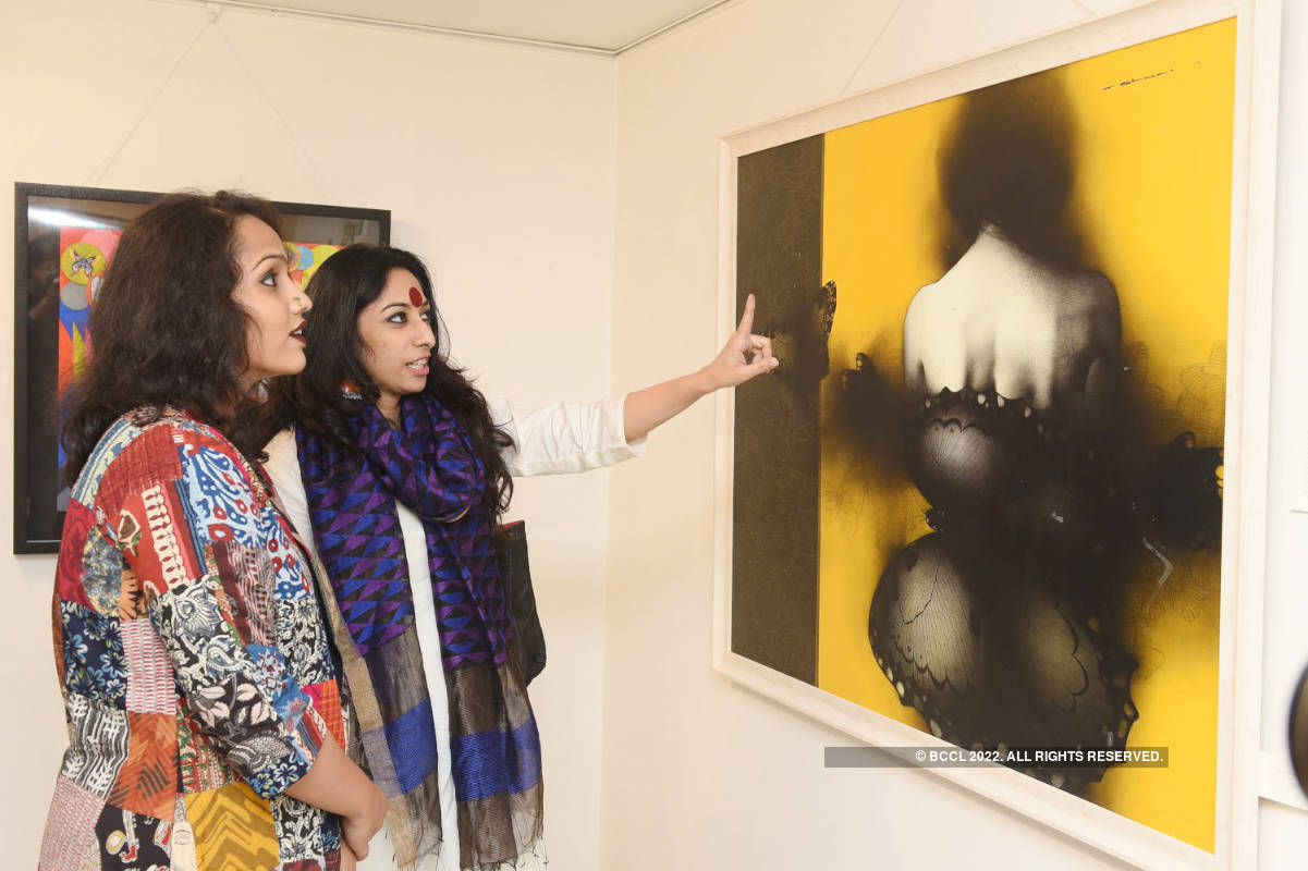 Art lovers attended the show 'The Butterfly Effect'