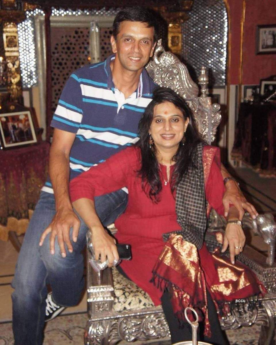 Unseen pictures from legendary cricketer Rahul Dravid's personal and professional life