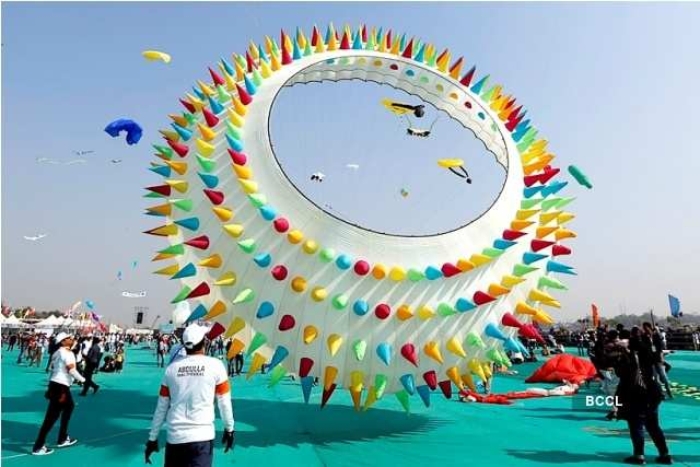 Vibrant pictures from International Kite Festival in Ahmedabad
