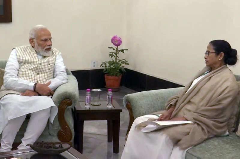 West Bengal CM Mamata Banerjee meets PM Narendra Modi, raises CAA issue
