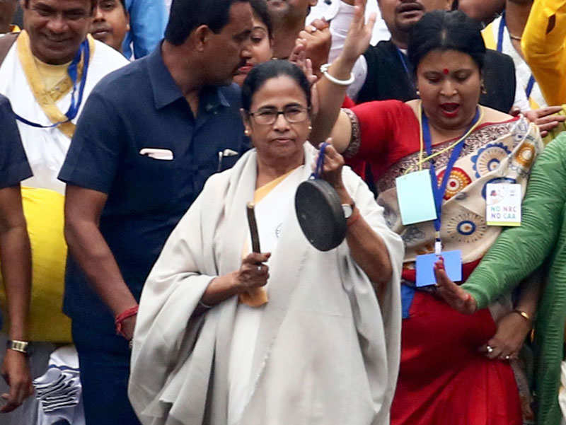 Mamata joins TMC dharna against CAA after meeting PM Modi