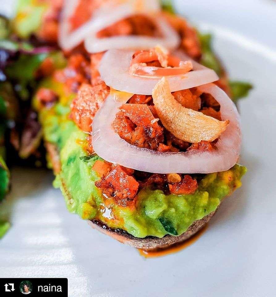 avocado with goan chorizo_artisan meats
