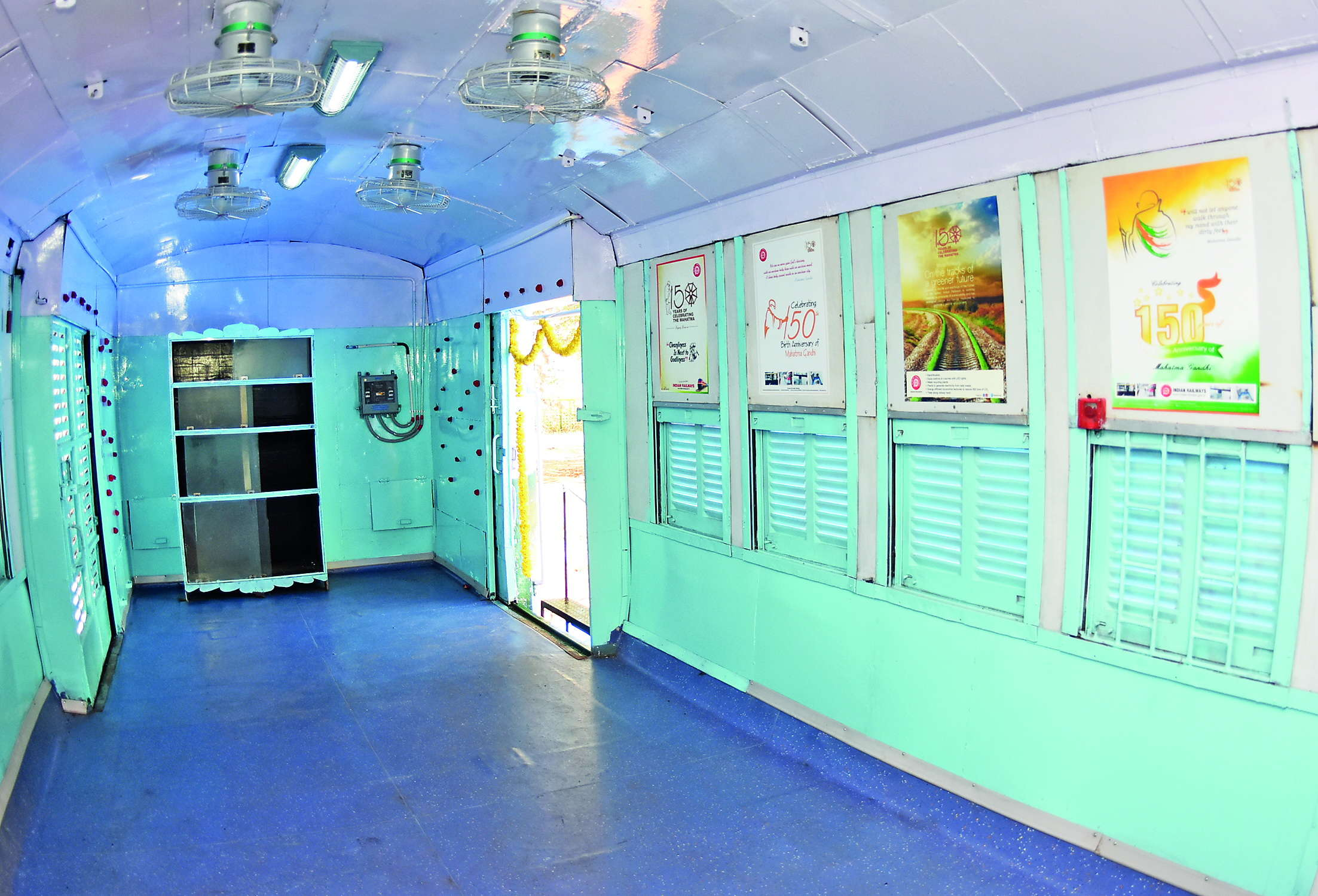 Senior officials from the railway workshop came up with the idea of  converting a few old coaches into classrooms