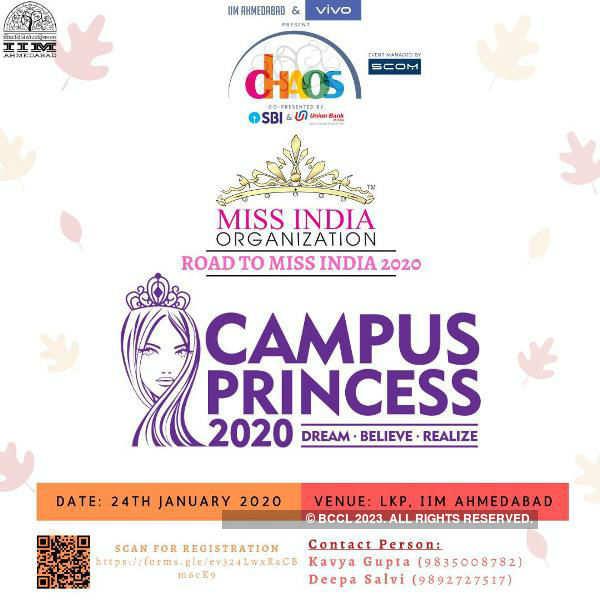Campus Princess 2020 auditions at LKP, IIM Ahmedabad
