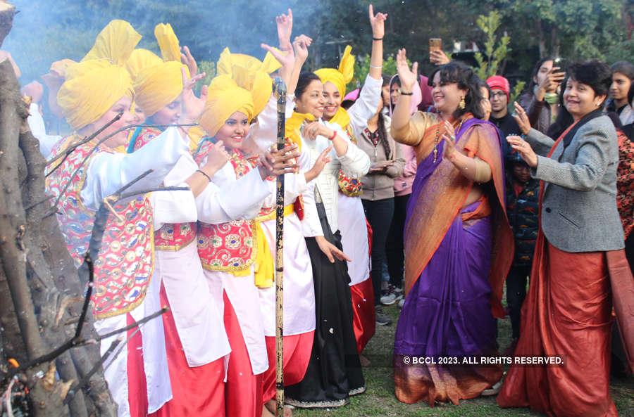 Colourful pictures of Lohri and Makar Sankranti celebrations