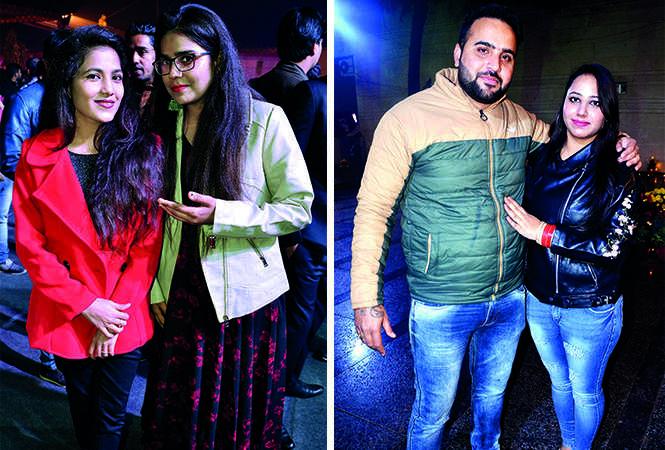 (L) Shivangi Patel and Chitra Singh (R) Veeru and Tanya Singh (BCCL/ IB Singh)