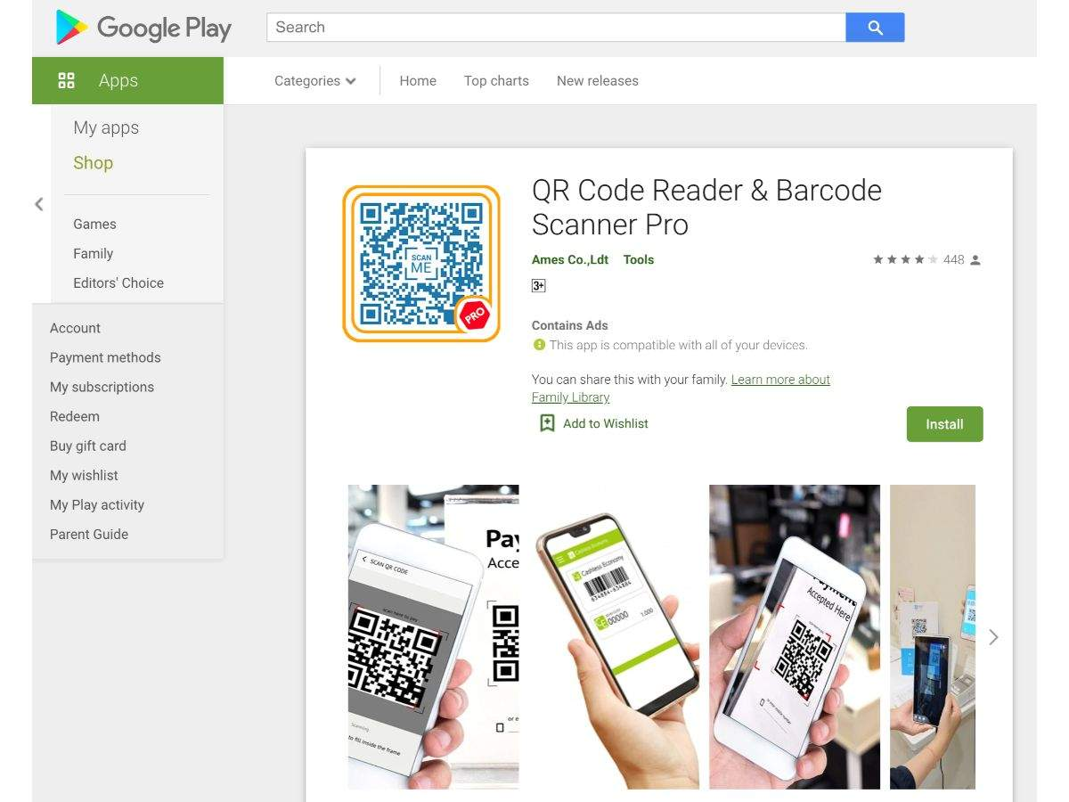 QR Code Reader and Barcode Scanner Pro