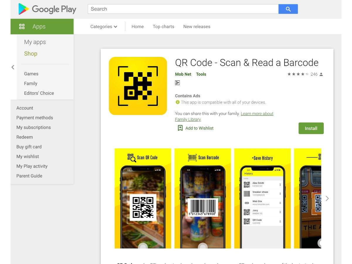 QR Code - Scan and Read a Barcode