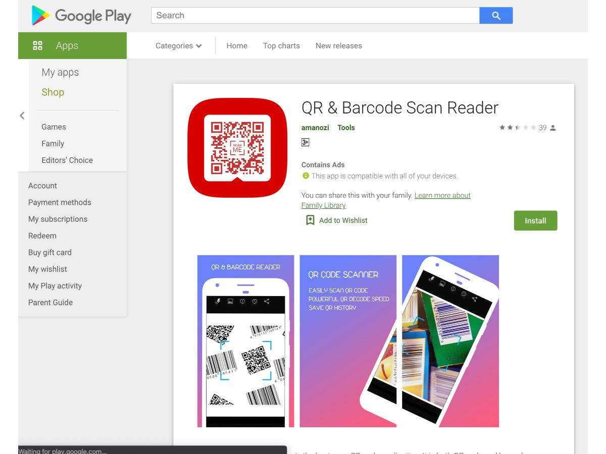 QR and Barcode Scan Reader