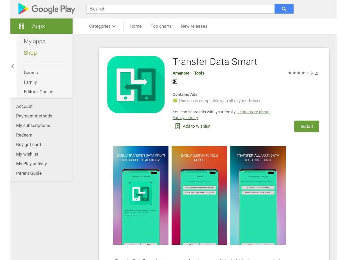 Transfer Data Smart