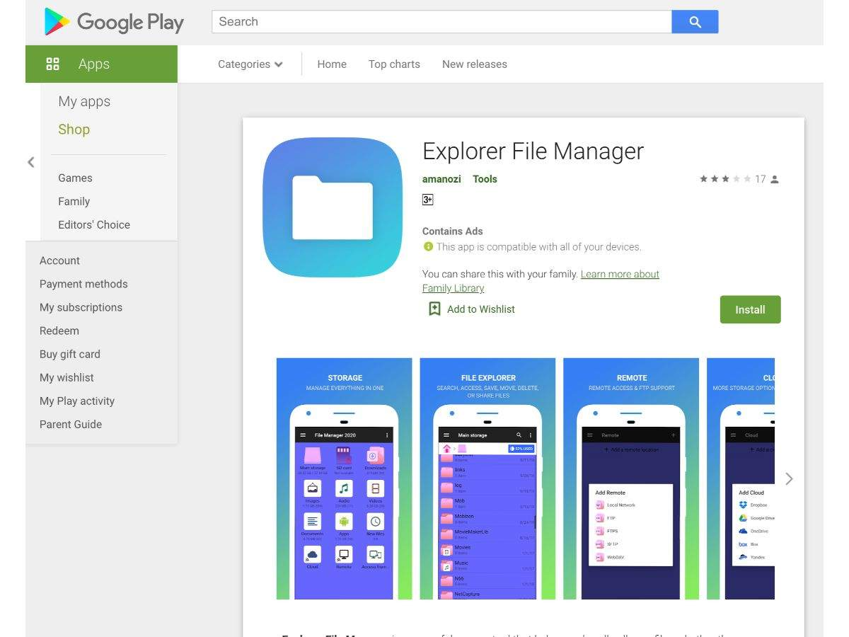 Explorer File Manager