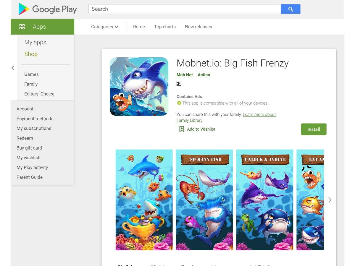Mobnet.io: Big Fish Frenzy
