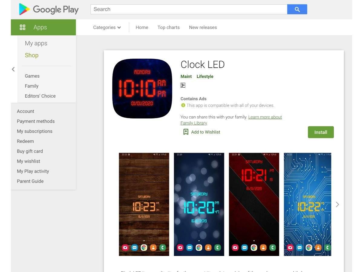 Clock LED