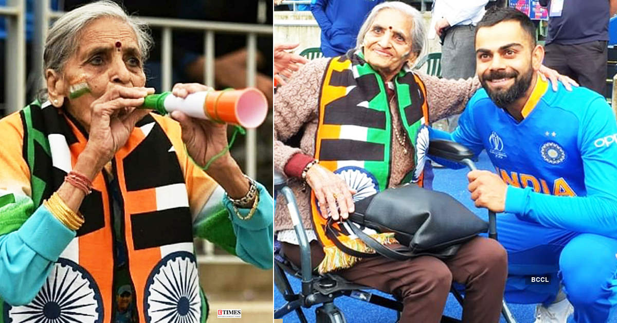 Unmissable pictures of Team India's Superfan Charulata Patel, who ruled our hearts