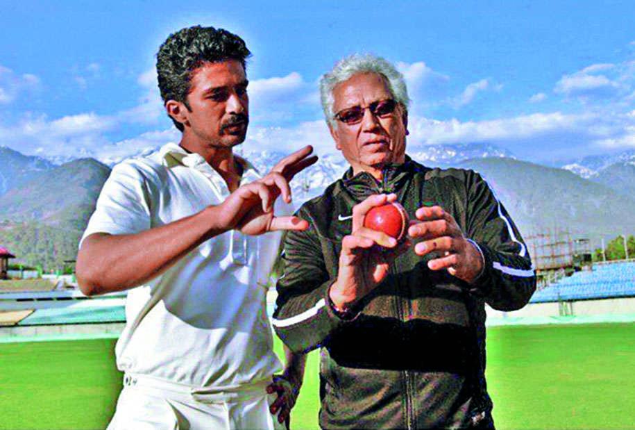 Saqib Saleem with Mohinder Amarnath