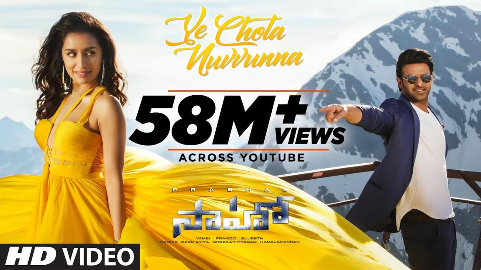 Telugu Song: Latest Telugu Video Song 'Ye Chota Nuvvunna' from 'Saaho' Ft. Prabhas and Shraddha Kapoor