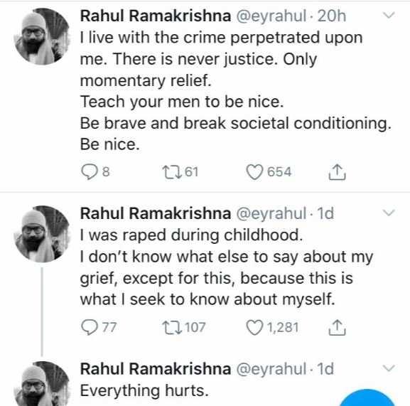 Rahul Ramakrishna's tweet