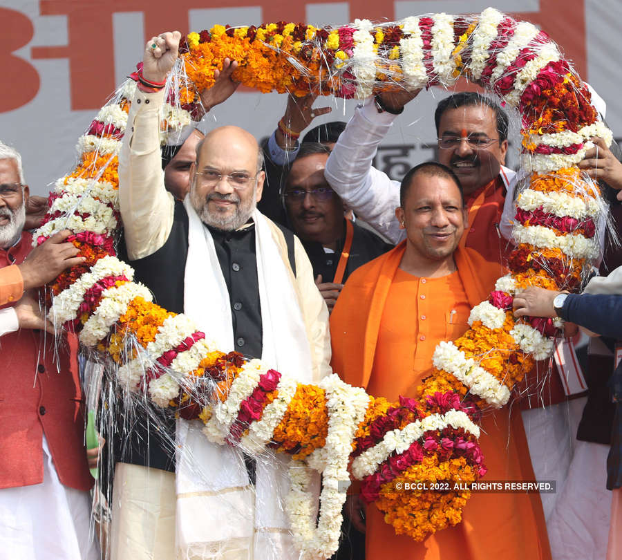 Pictures from Amit Shah's pro-CAA rally in Lucknow