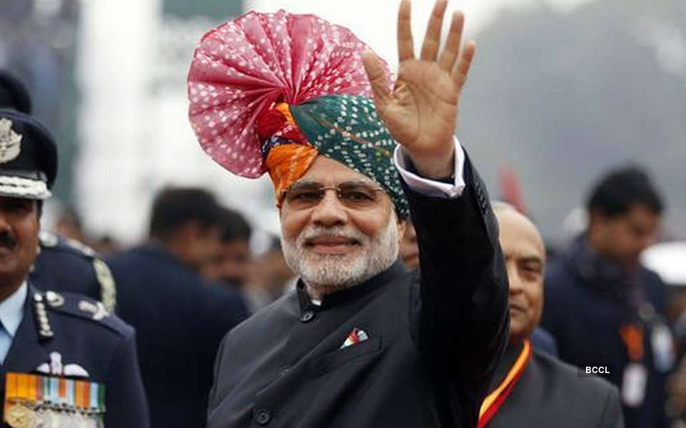 Unmissable pictures of Prime Minister Narendra Modi sporting colourful turbans