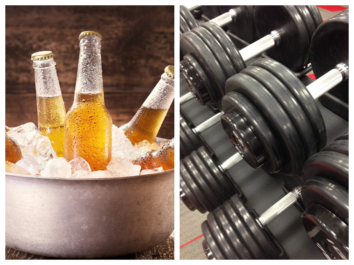Is having alcohol better than exercising?