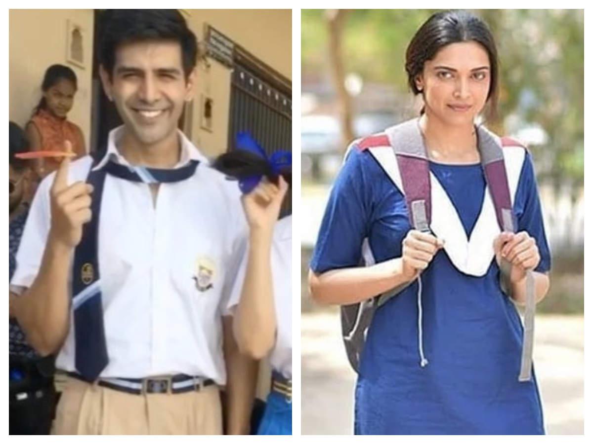 From Kartik Aaryan In Love Aaj Kal To Deepika Padukone In Chhapaak Bollywood Actors Who Sported School Uniforms In Movies The Times Of India
