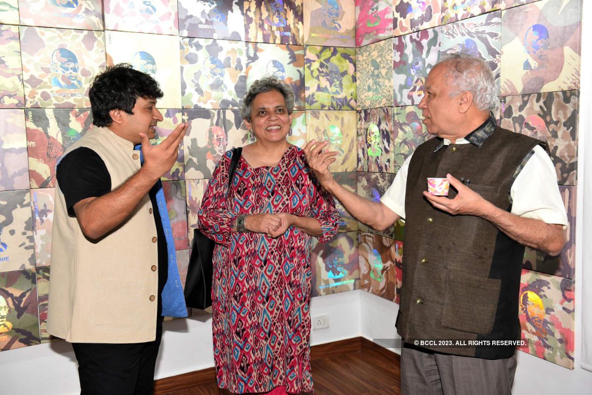 This art exhibition seeks to reimagine the Gandhian principle of non-violence