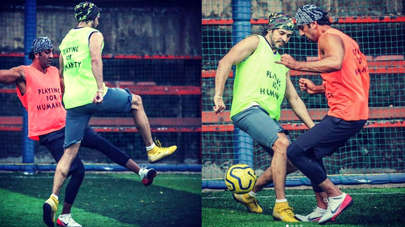 Ranbir Kapoor and Dino Morea's 'football dance' goes viral over the internet